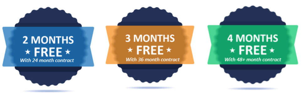 4 Months Free Graphic